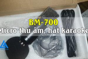 Bán bộ Micro thu âm, hát karaoke BM-700 chỉ 400k giá rẻ