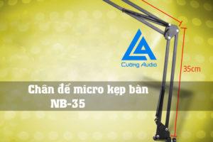 Chân đế micro kẹp bạn NB-35 tiện dụng giữ micro chắc chắn