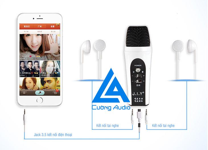 Micro hát karaoke và thu âm trên điện thoại J.I.Y sành điệu