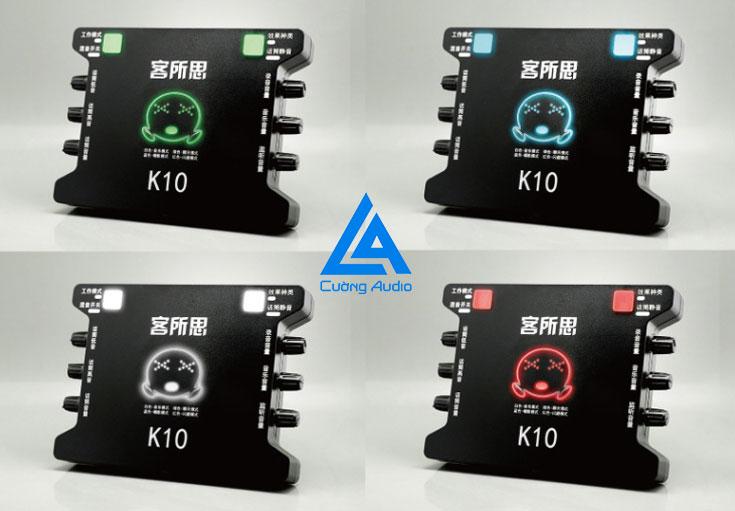 Sound card XOX K10 thiết bị chuyên hát karaoke và thu âm