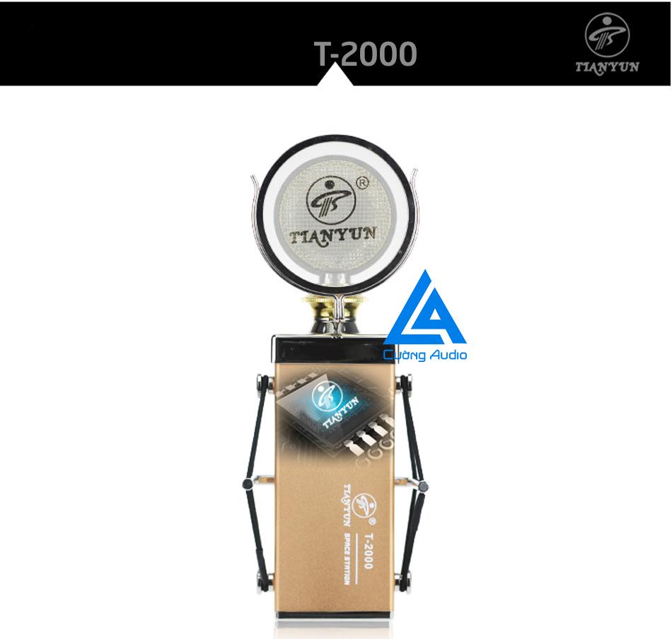 Micro thu âm TIANYUN T-2000 với kiểu dáng độc đáo, bắt mắt