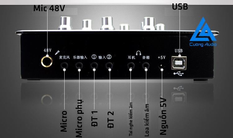 Sound card CYDBLUES Q8, R900 FX auto tune chất lượng theo ý muốn